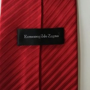 Ermenegildo Zegna Accessories - Ermenegildo Zegna Red Textured Tie